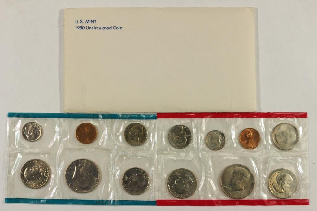 1980 US MINT SET (UNC) P/D/S (WITH ENVELOPE)