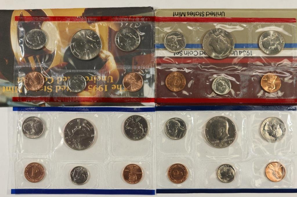 1984 & 1995 US PROOF SETS (WITH BOXES)