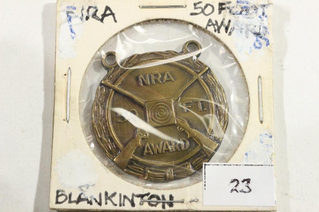 "NRA 50 FOOT AWARD BRASS ""BLANKINTON"""