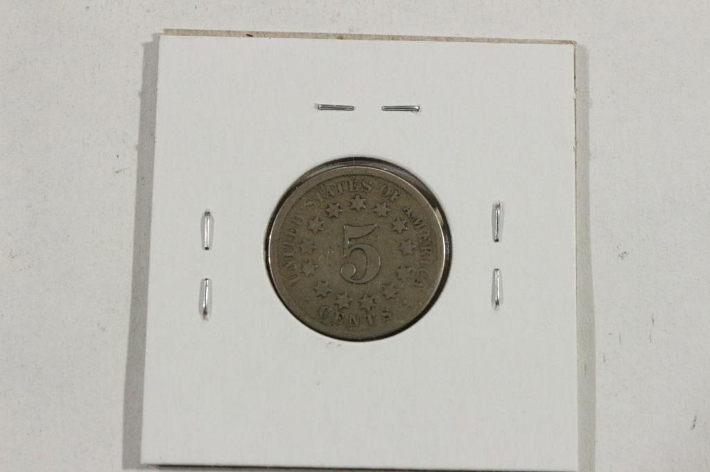 1867 SHIELD NICKEL - 2