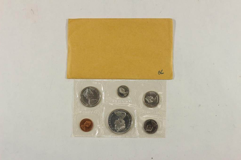 1966 CANADA SILVER (PF LIKE) SET WITH ENVELOPE - 2