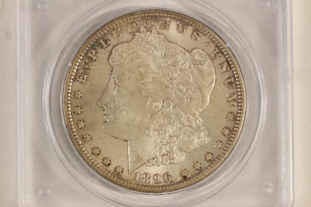 1896 MORGAN SILVER DOLLAR PCGS MS61