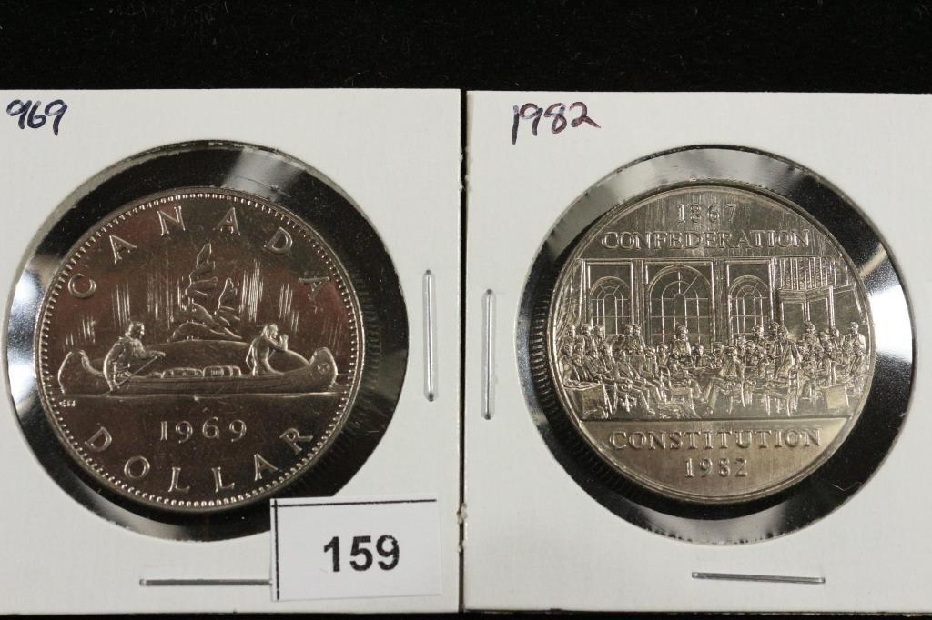 1969 & 1982 CANADA DOLLARS UNC