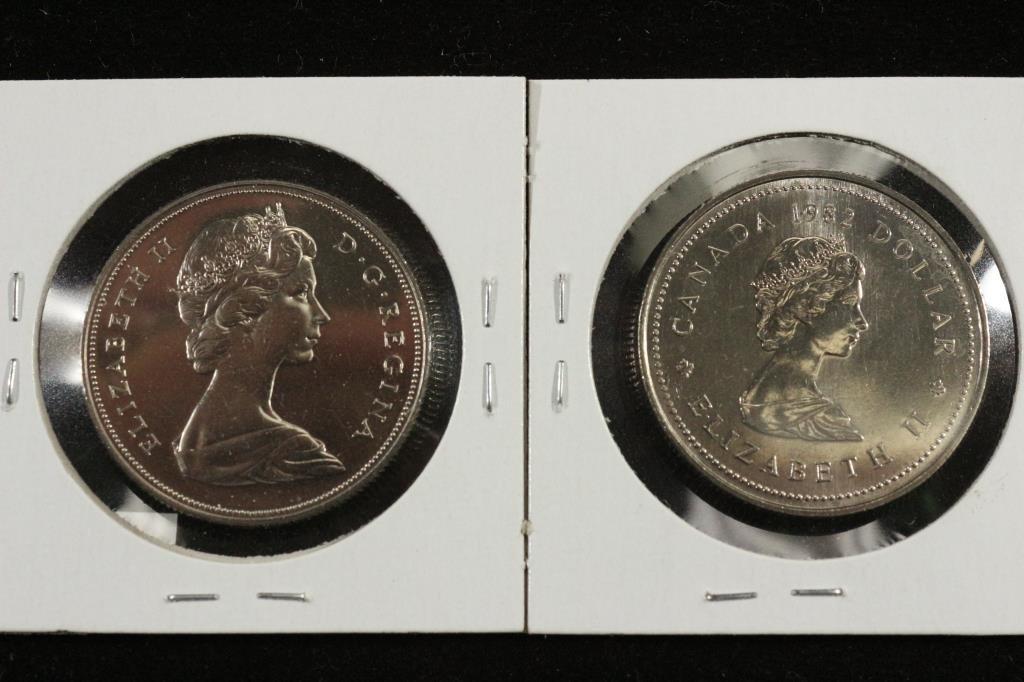 1969 & 1982 CANADA DOLLARS UNC - 2