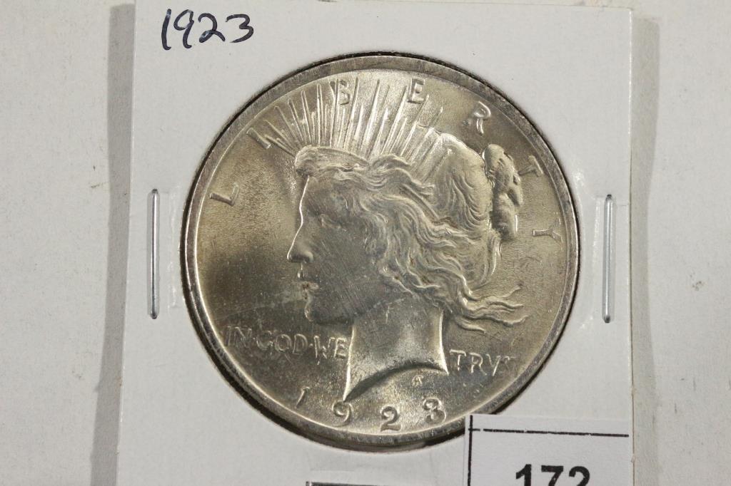 1923 PEACE SILVER DOLLAR UNC