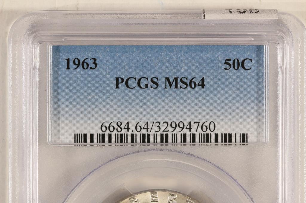 1963 FRANKLIN HALF DOLLAR PCGS MS64 - 3