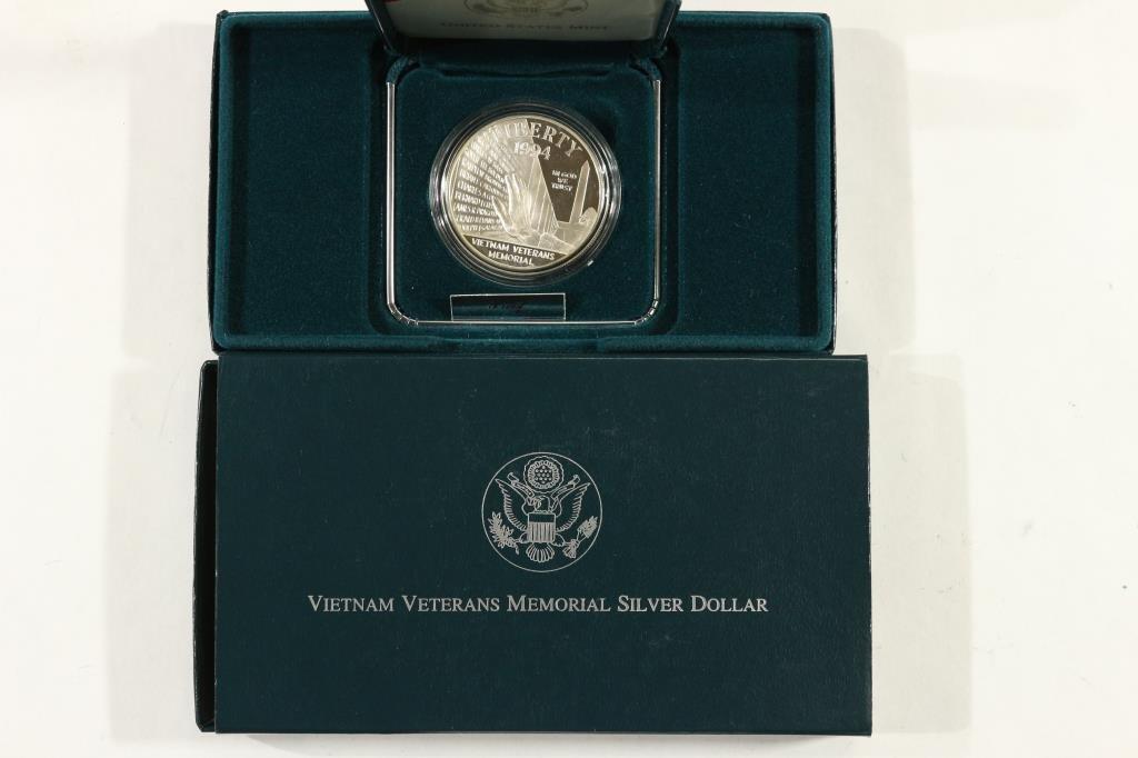 1994-P VIETNAM VETERANS MEMORIAL SILVER DOLLAR PF
