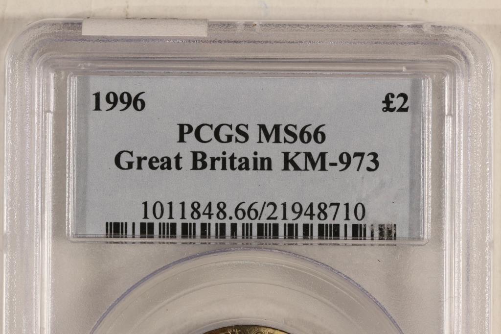 1996 GREAT BRITAIN 2 POUND PCGS MS66 KM-973 - 3