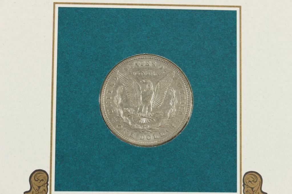 1921 MORGAN SILVER DOLLAR & STAMP SET - 4