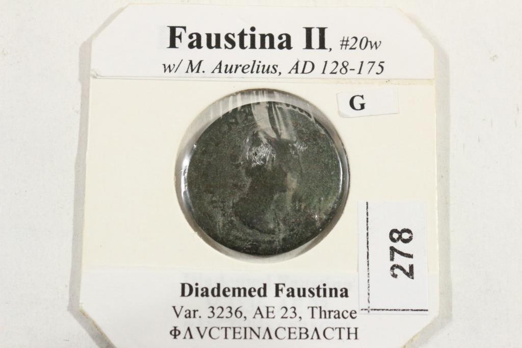 128-175 A.D. FAUSTINA II ANCIENT COIN