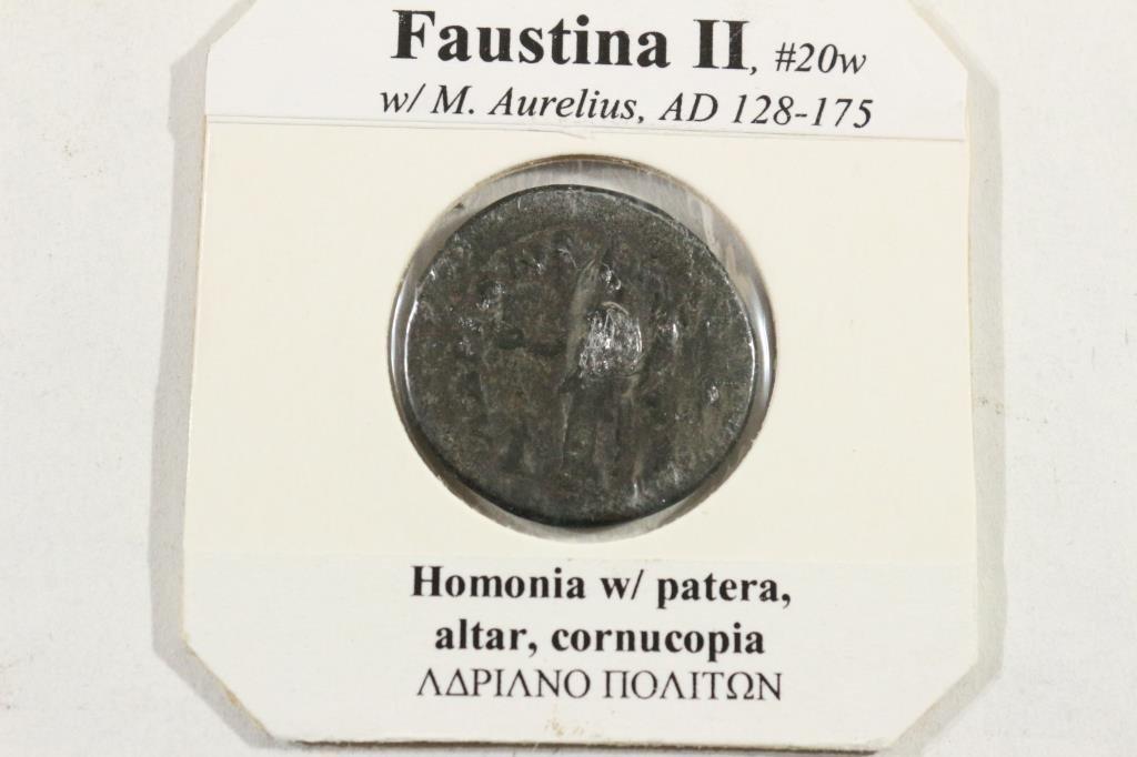 128-175 A.D. FAUSTINA II ANCIENT COIN - 2
