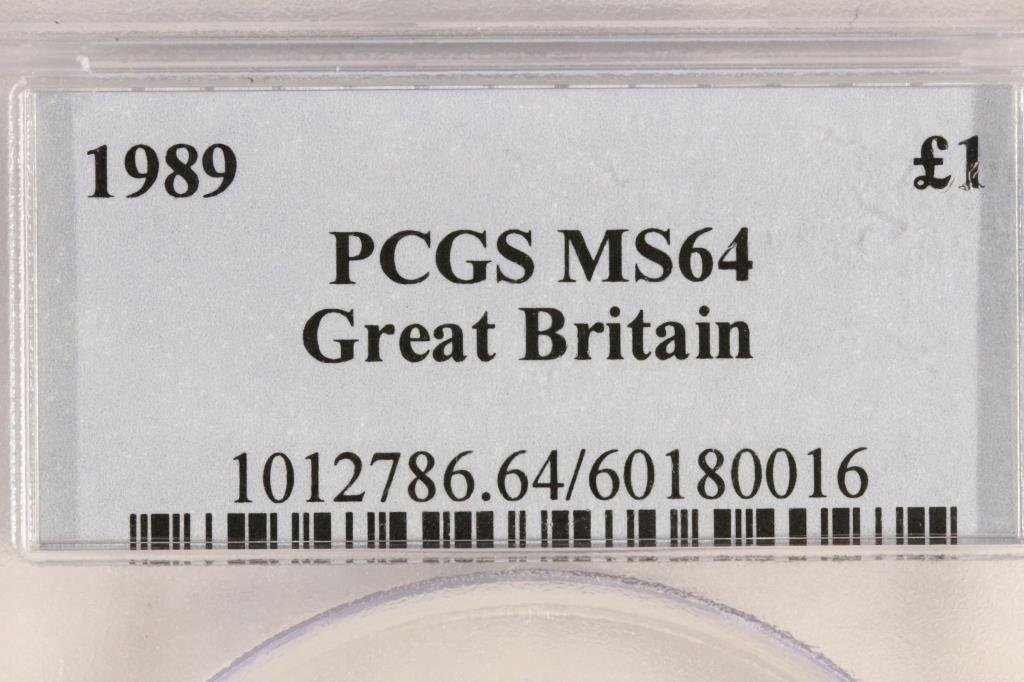 1989 GREAT BRITAIN POUND PCGS MS64 - 3