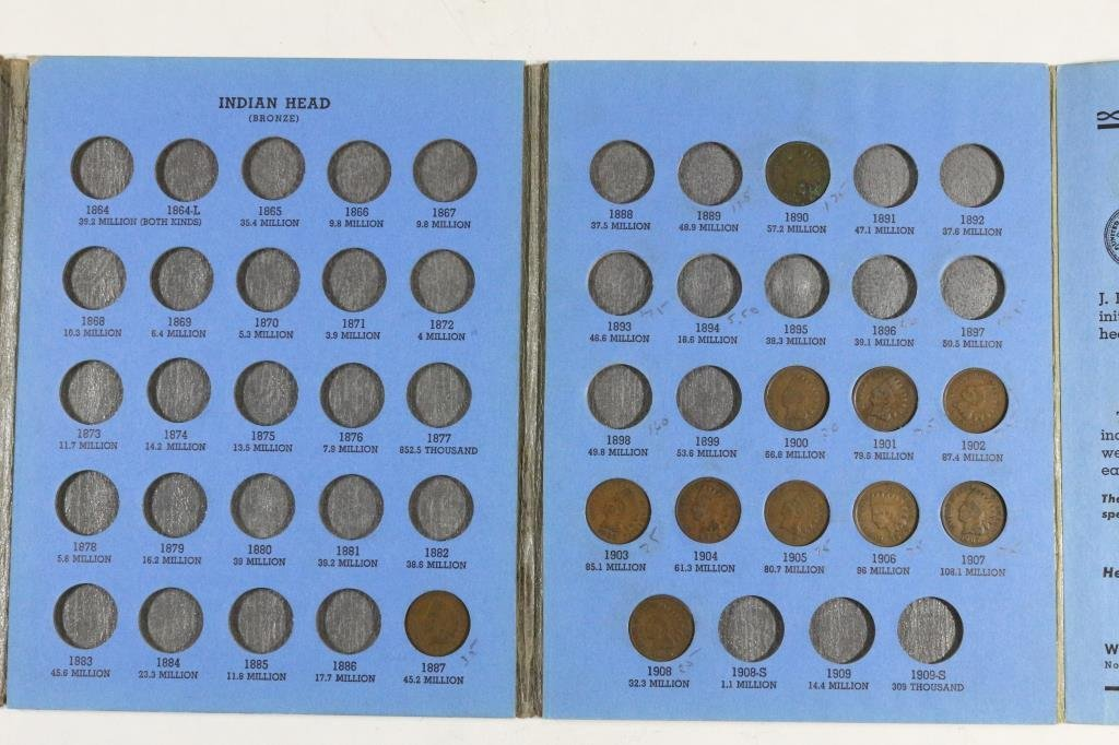PARTIAL 1856-1909 INDIAN HEAD CENT SET11 COINS