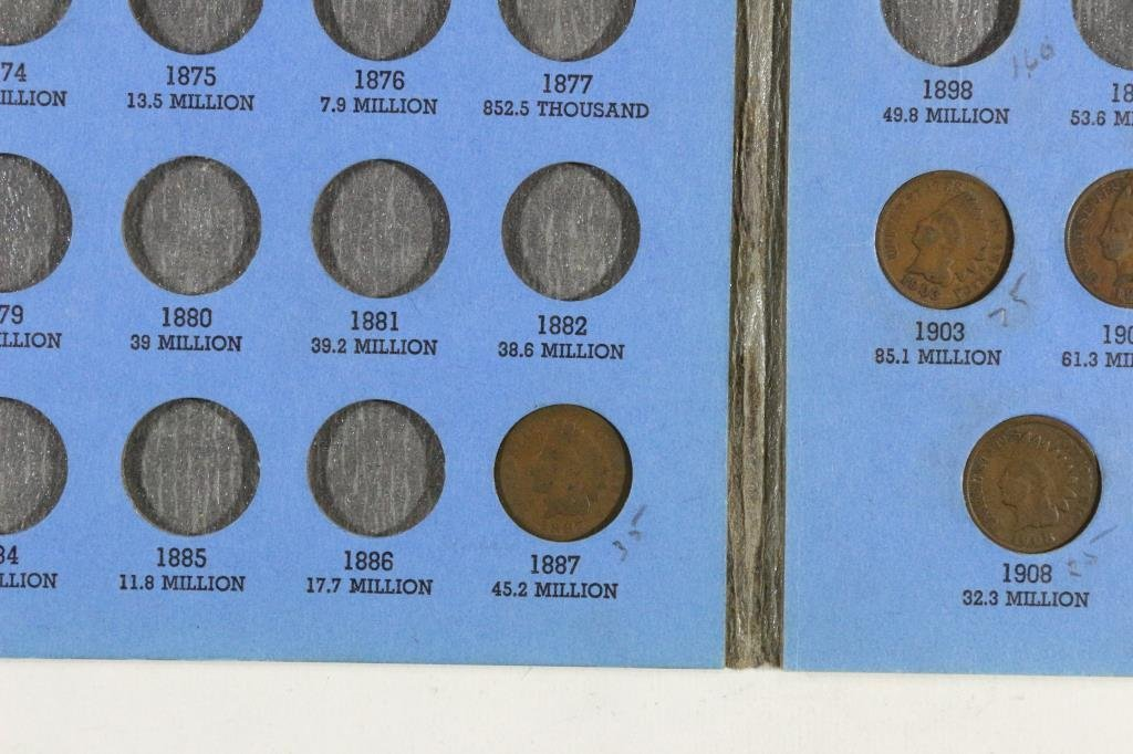 PARTIAL 1856-1909 INDIAN HEAD CENT SET11 COINS - 2
