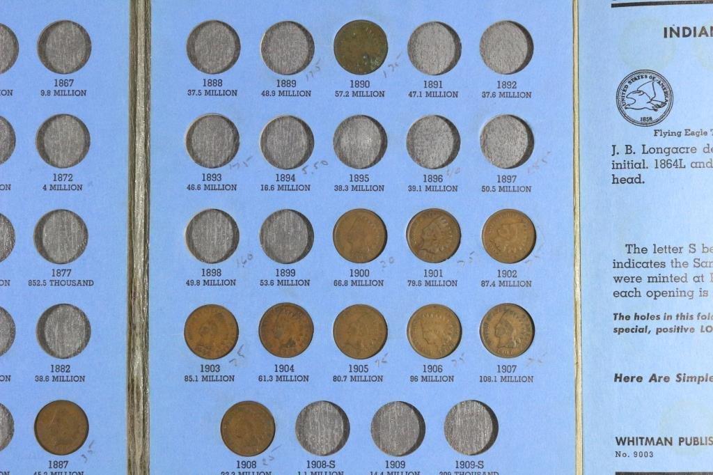 PARTIAL 1856-1909 INDIAN HEAD CENT SET11 COINS - 3