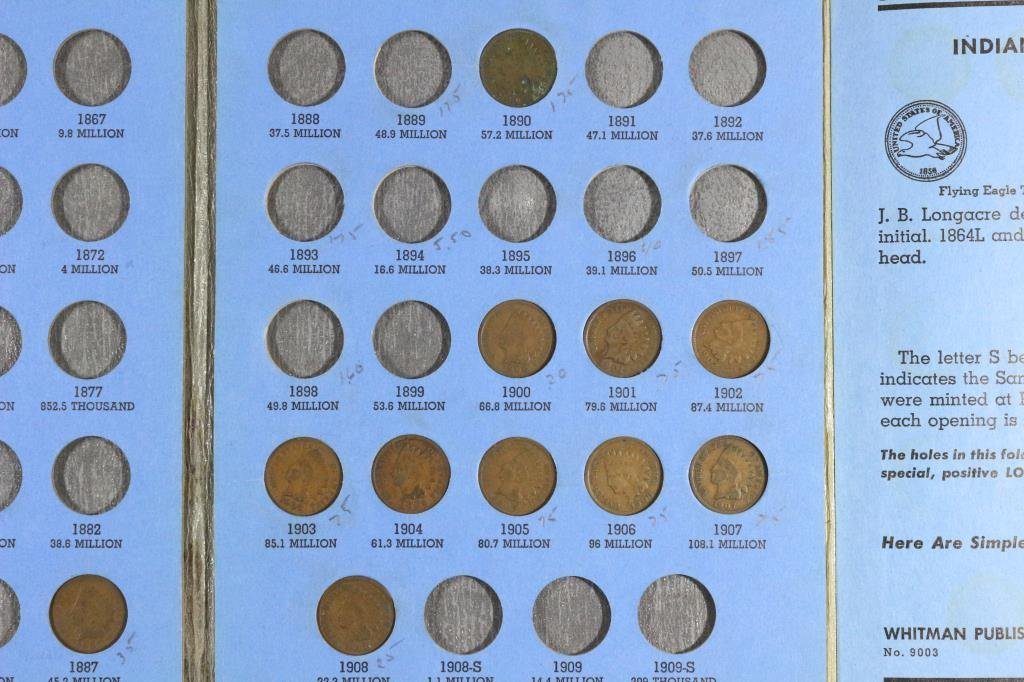 PARTIAL 1856-1909 INDIAN HEAD CENT SET11 COINS - 3