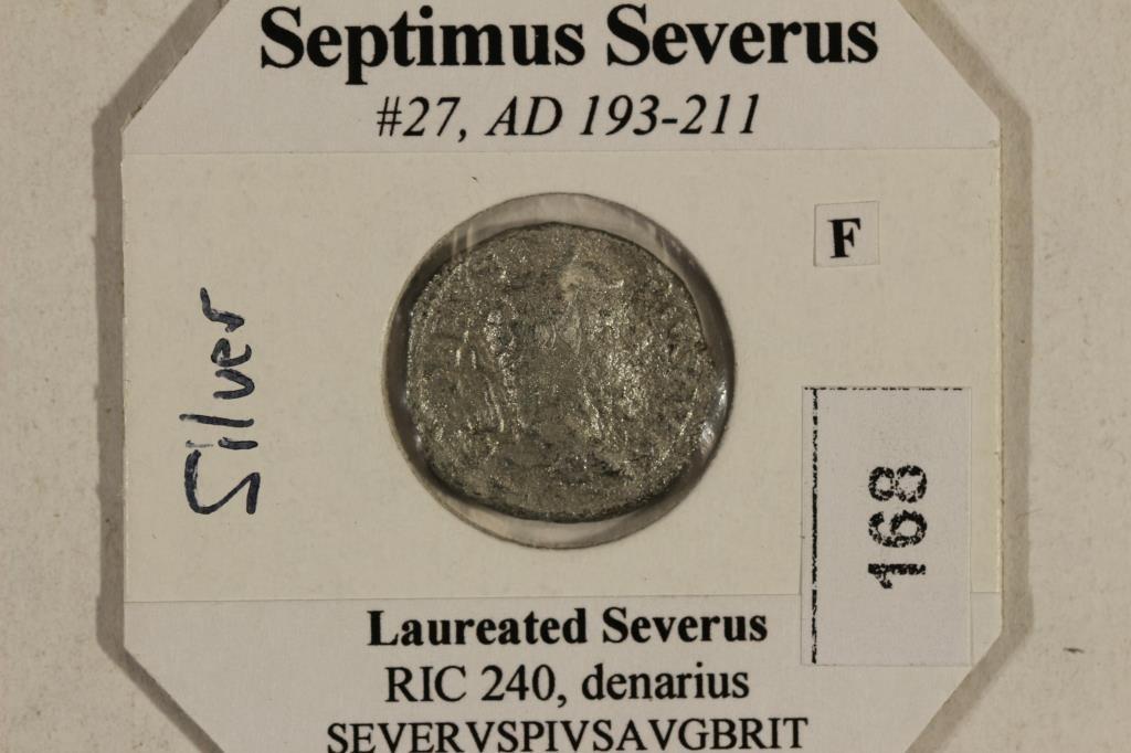 SILVER 193-211 A.D. SEPTIMUS SEVERUS ANCIENT COIN - 3