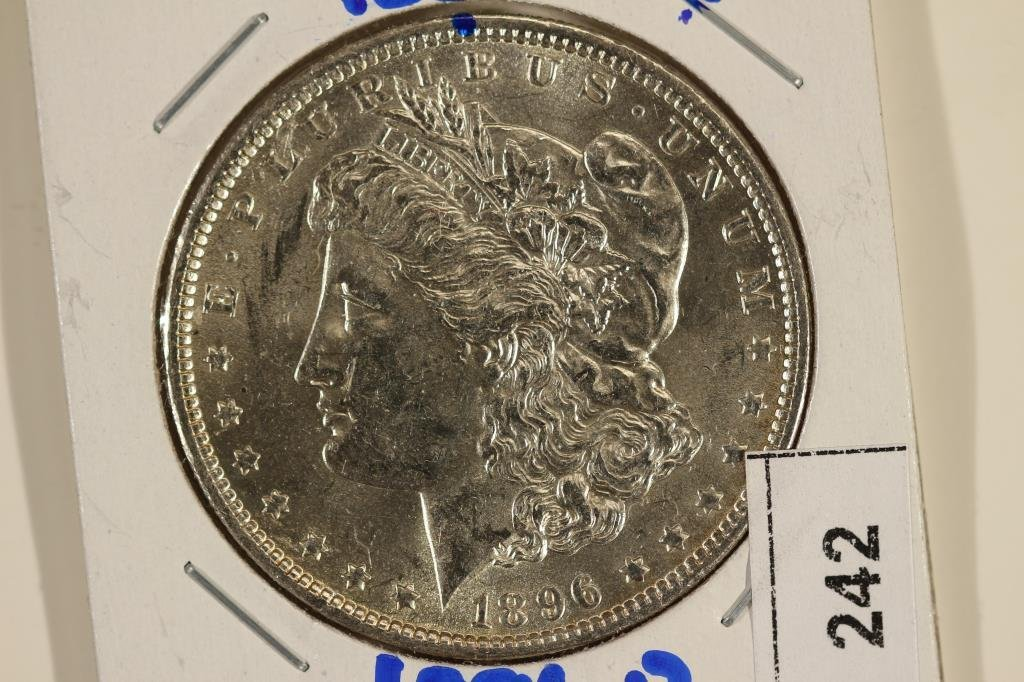 1896 MORGAN SILVER DOLLAR BRILLIANT UNC