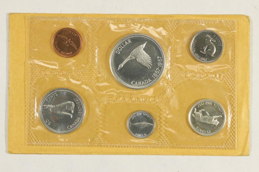 1967 CANADA FLYING GOOSE SILVER (PF LIKE) SET