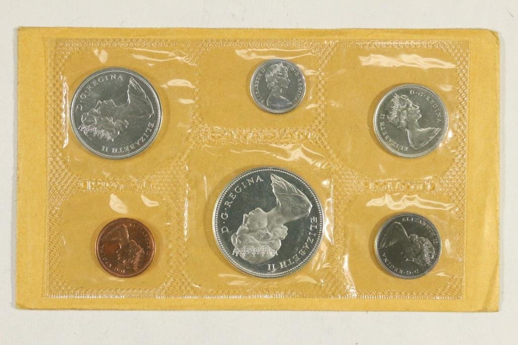 1967 CANADA FLYING GOOSE SILVER (PF LIKE) SET - 2