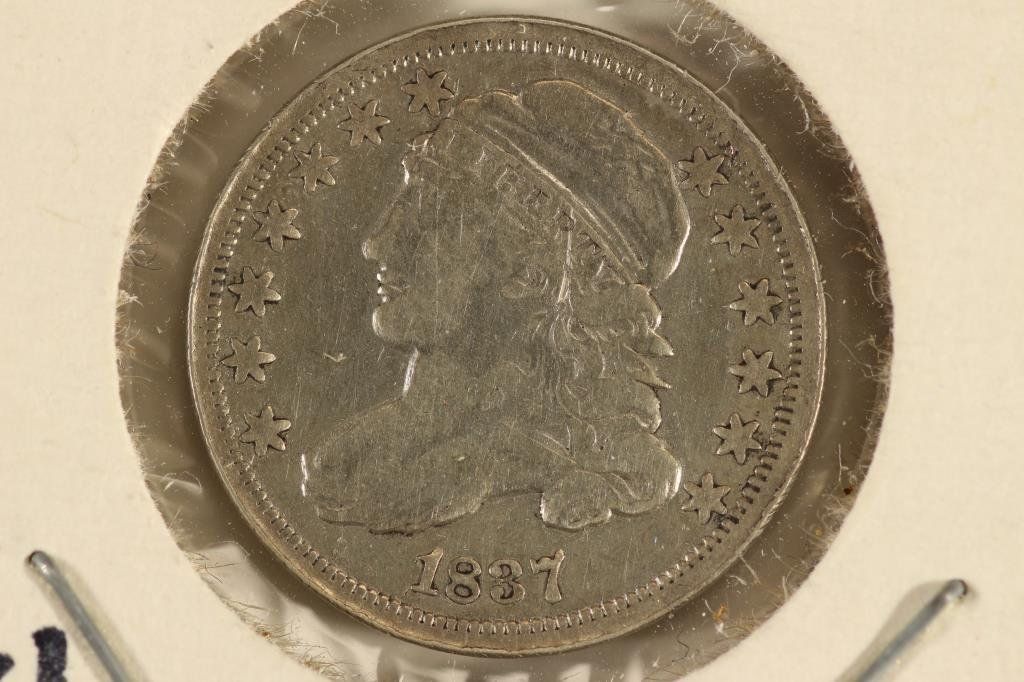 1837 CAPPED BUST DIME VERY FINE