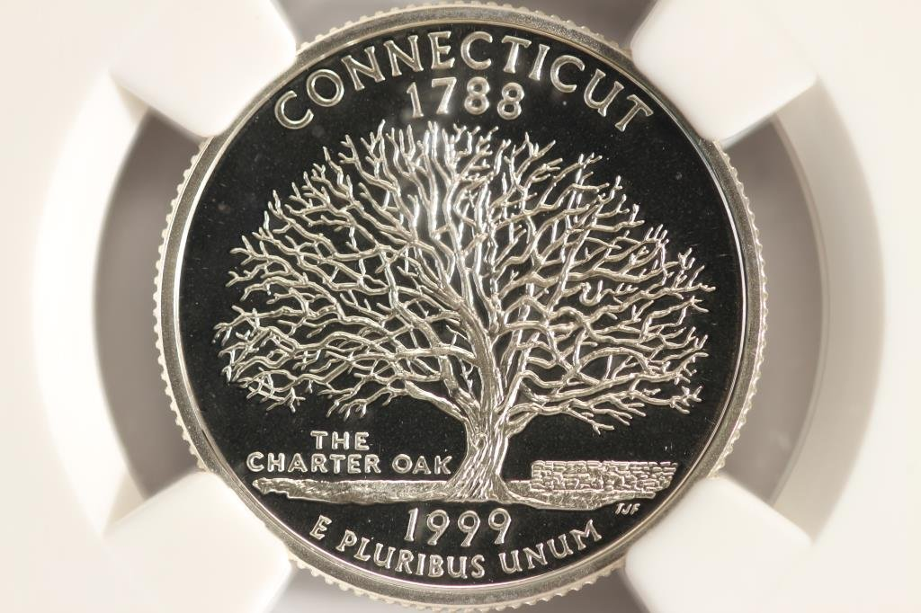 1999-S SILVER CONNECTICUT QUARTER NGC PF69
