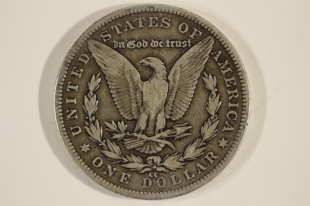 1891-CC MORGAN SILVER DOLLAR RIM BUMP - 2