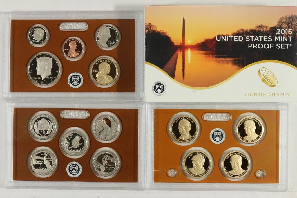2015 US PROOF SET (WITH BOX) 14 PIECES