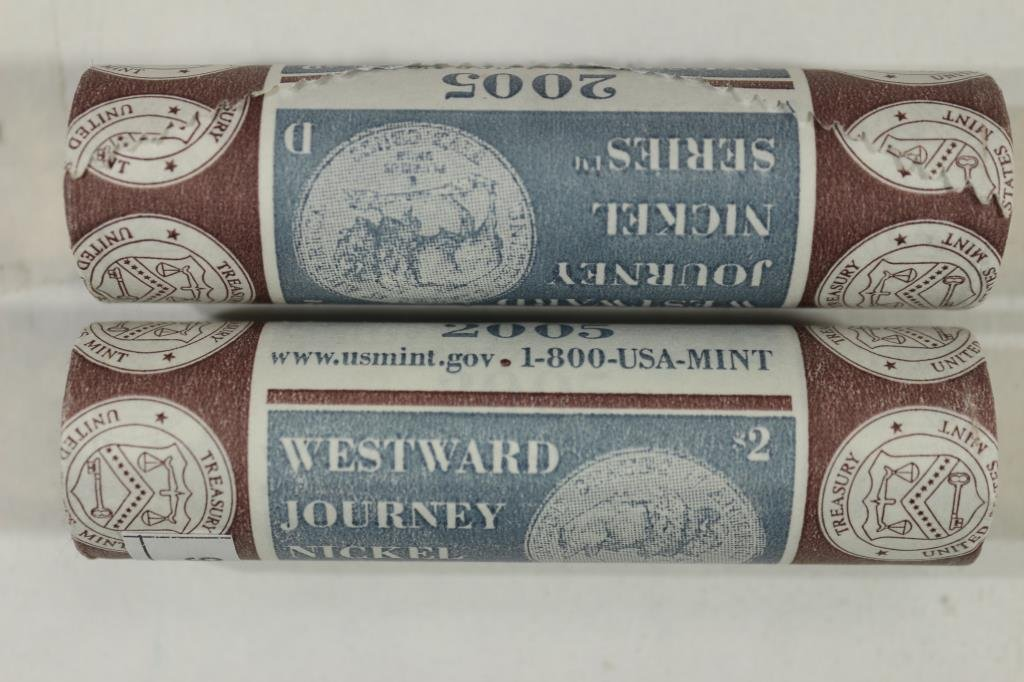ROLLS OF 2005-P & D WESTWARD JOURNEY NICKELS