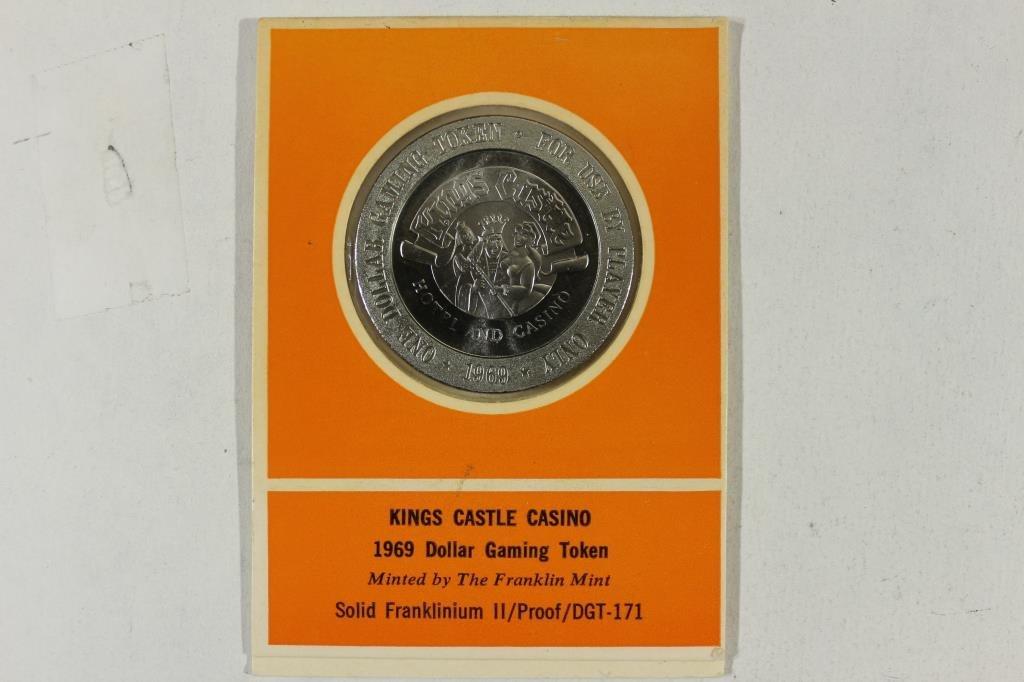 1969 KINGS CASTLE CASINO $1 GAMING TOKEN MINTED