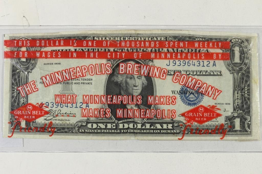 NIFTY ADVERTISING PIECE $1 SILVER CERTIFICATE WITH