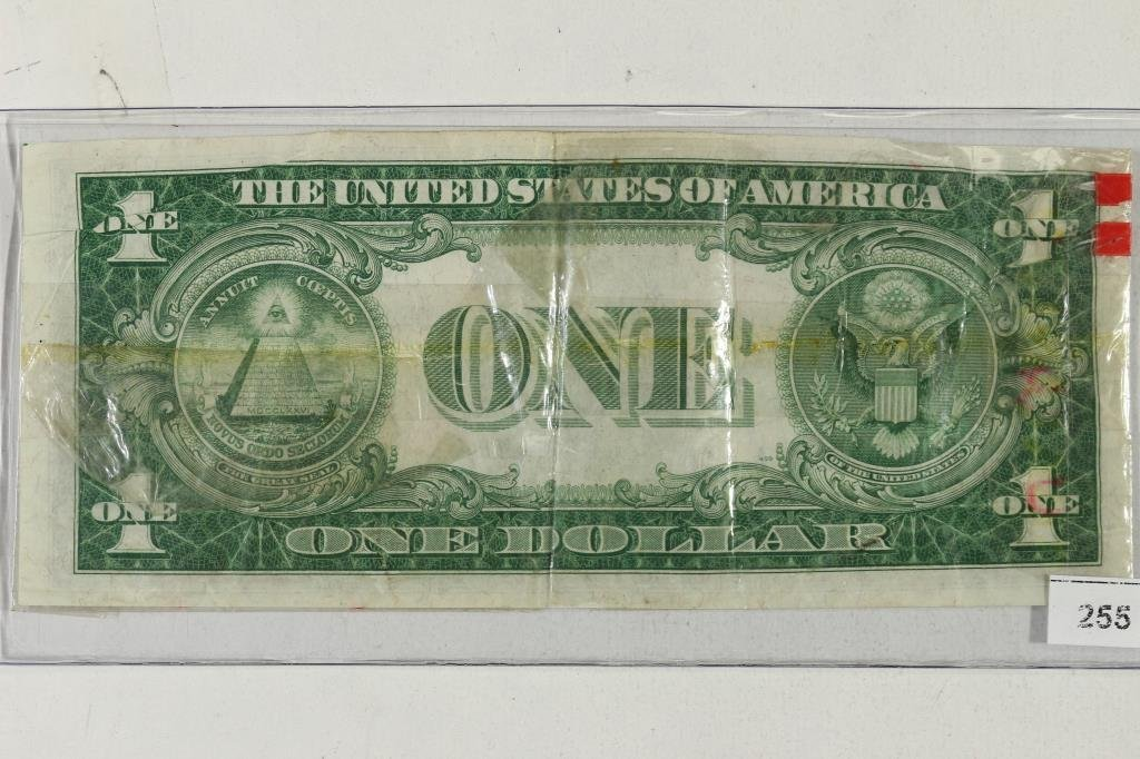NIFTY ADVERTISING PIECE $1 SILVER CERTIFICATE WITH - 2