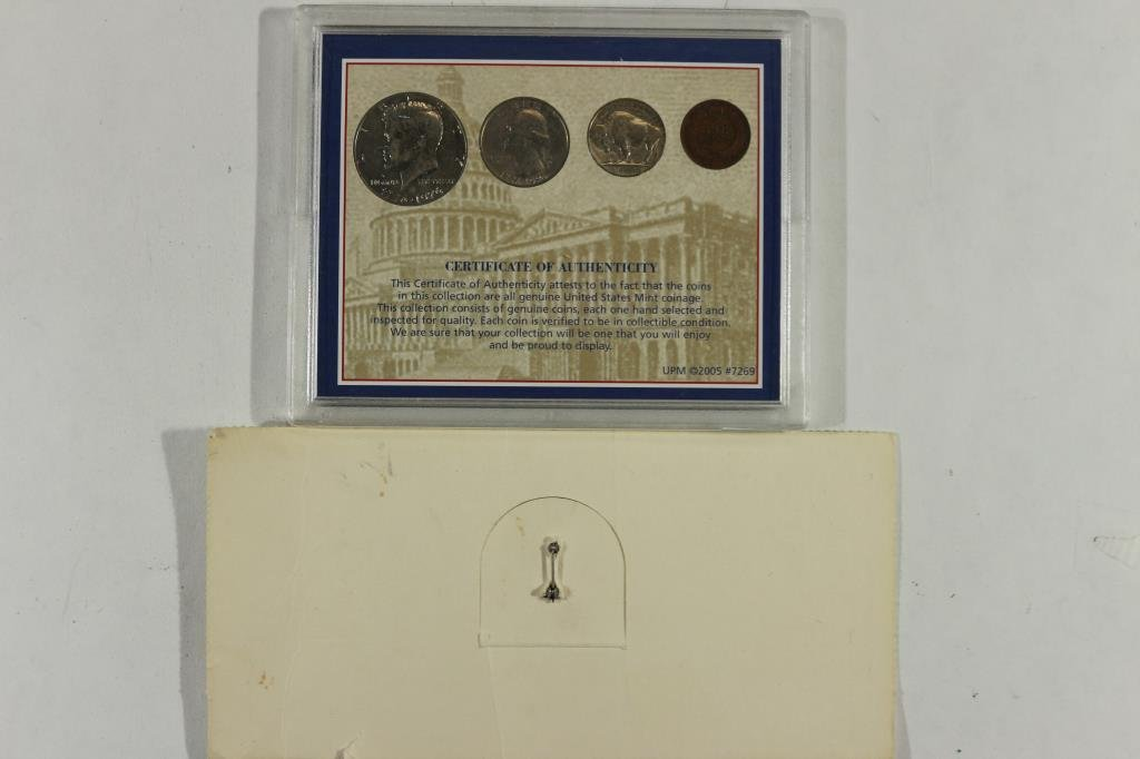 COIN SET & FRANKLIN MINT PIN BACK AS SHOWN - 2
