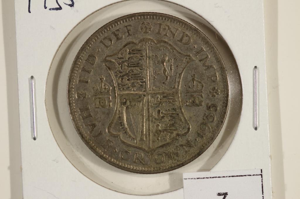 1935 GREAT BRITAIN SILVER HALF CROWN
