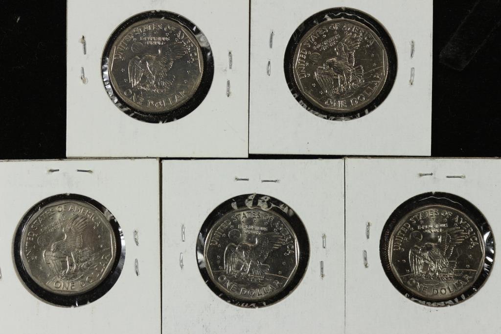 1979-P,80-P,80-D,99-P & 99-D SBA DOLLARS UNC - 2
