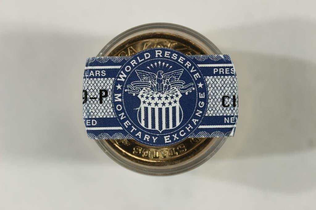 ROLL OF 12-2009-P HARRISON DOLLARS UNC