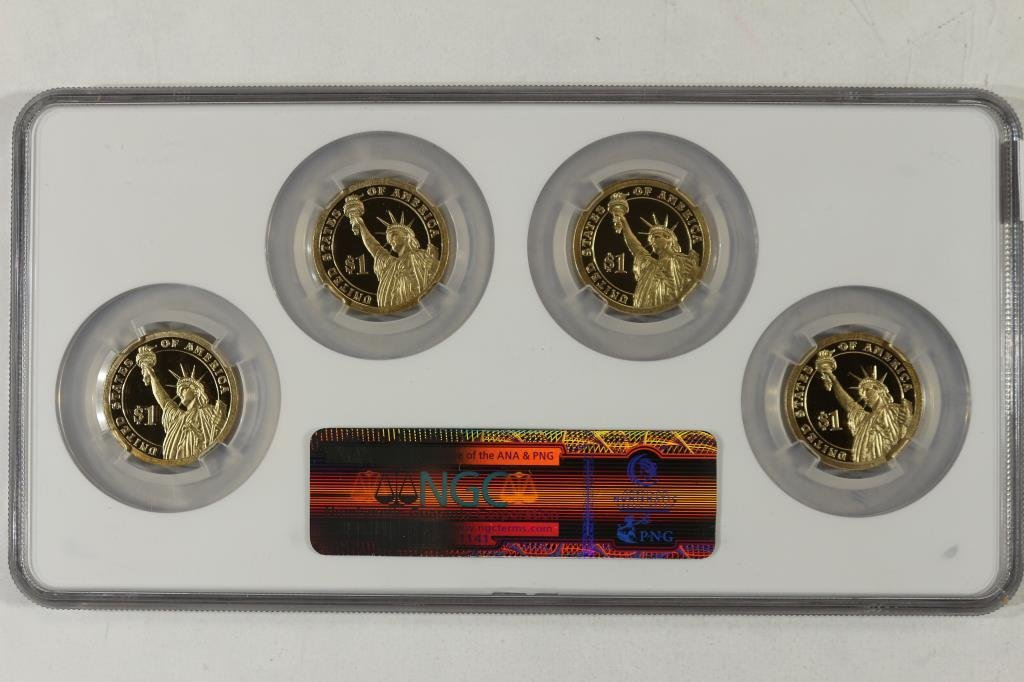 2010-S PRESIDENTIAL DOLLAR PROOF SET NGC PF69 - 2