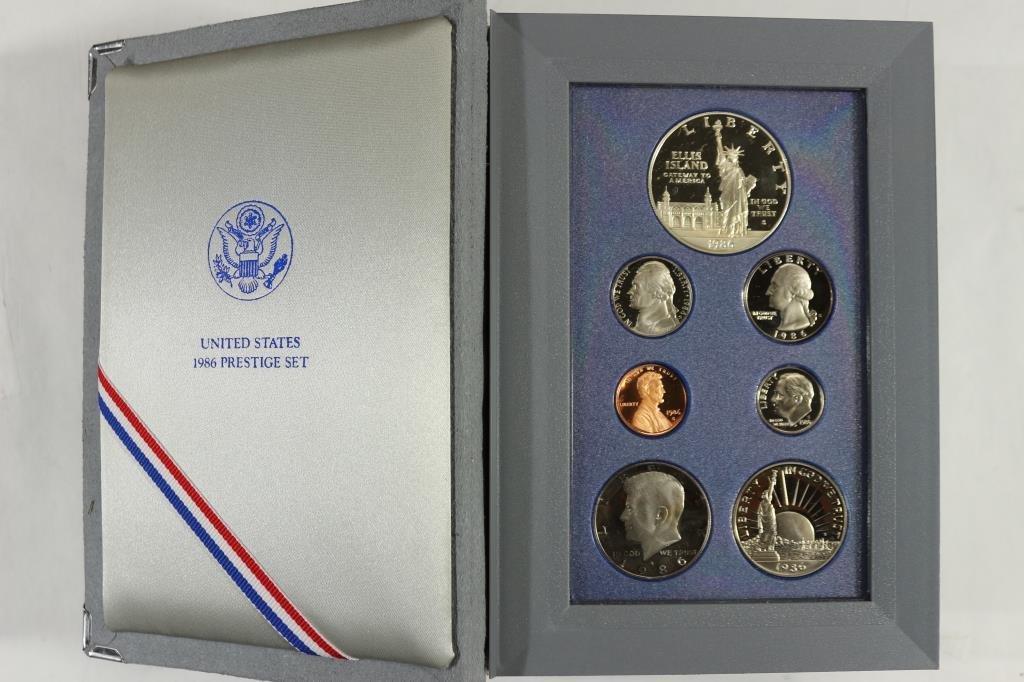 1986 US PRESTIGE PROOF SET STATUE OF LIBERTY