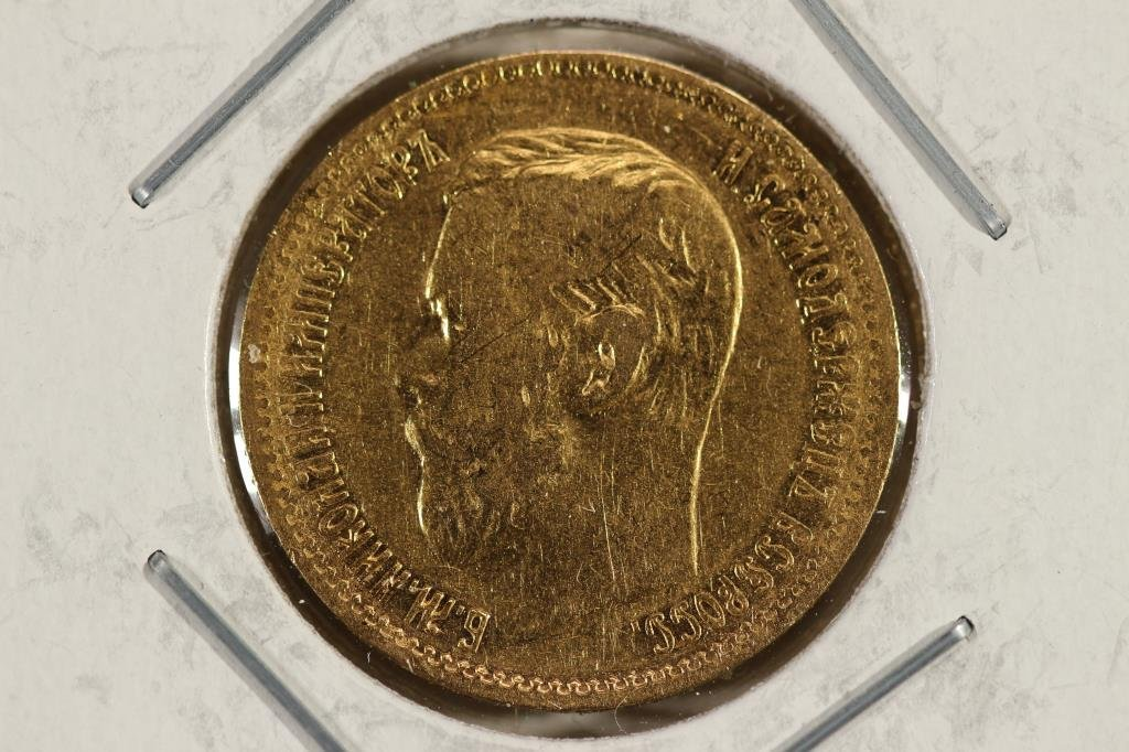 GOLD 1898 RUSSIA 5 ROUBLE