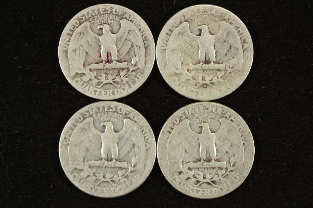 1942,43-D,44 & 45 WASHINGTON SILVER QUARTERS - 2