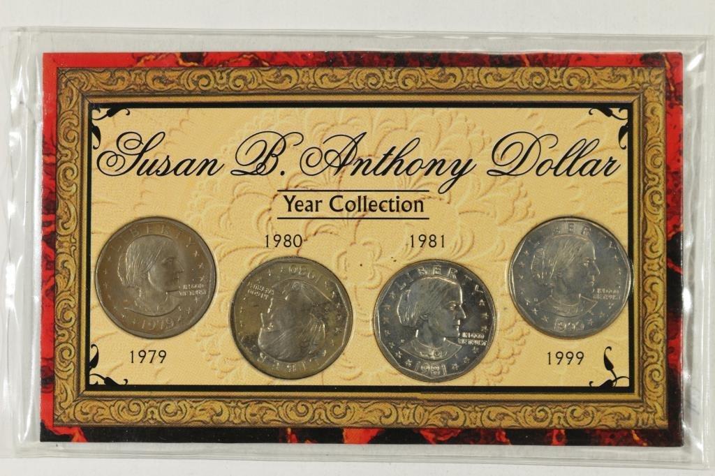 1979,80,81 & 99 SBA DOLLAR SET UNC