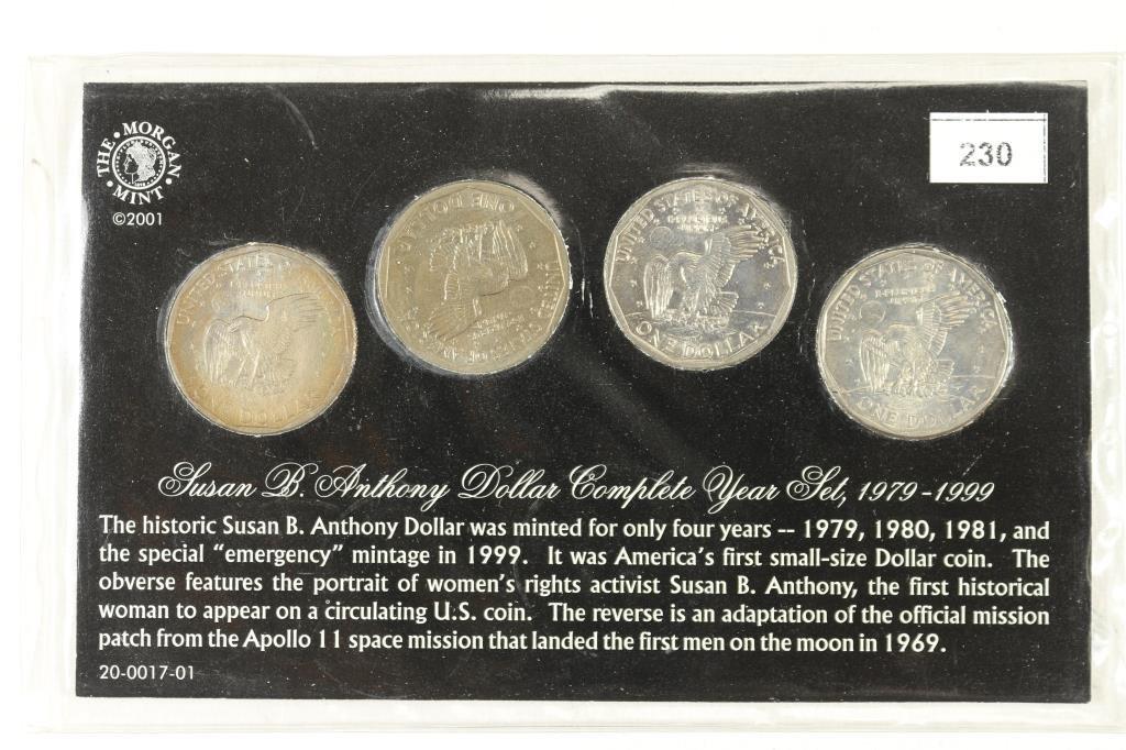 1979,80,81 & 99 SBA DOLLAR SET UNC - 2