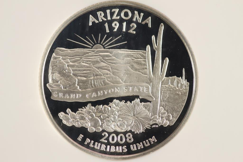2008-S SILVER ARIZONA QUARTER NGC PF69 ULTRA CAMEO