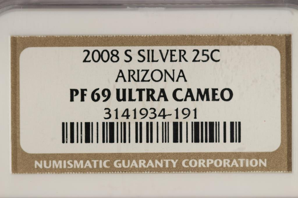 2008-S SILVER ARIZONA QUARTER NGC PF69 ULTRA CAMEO - 3
