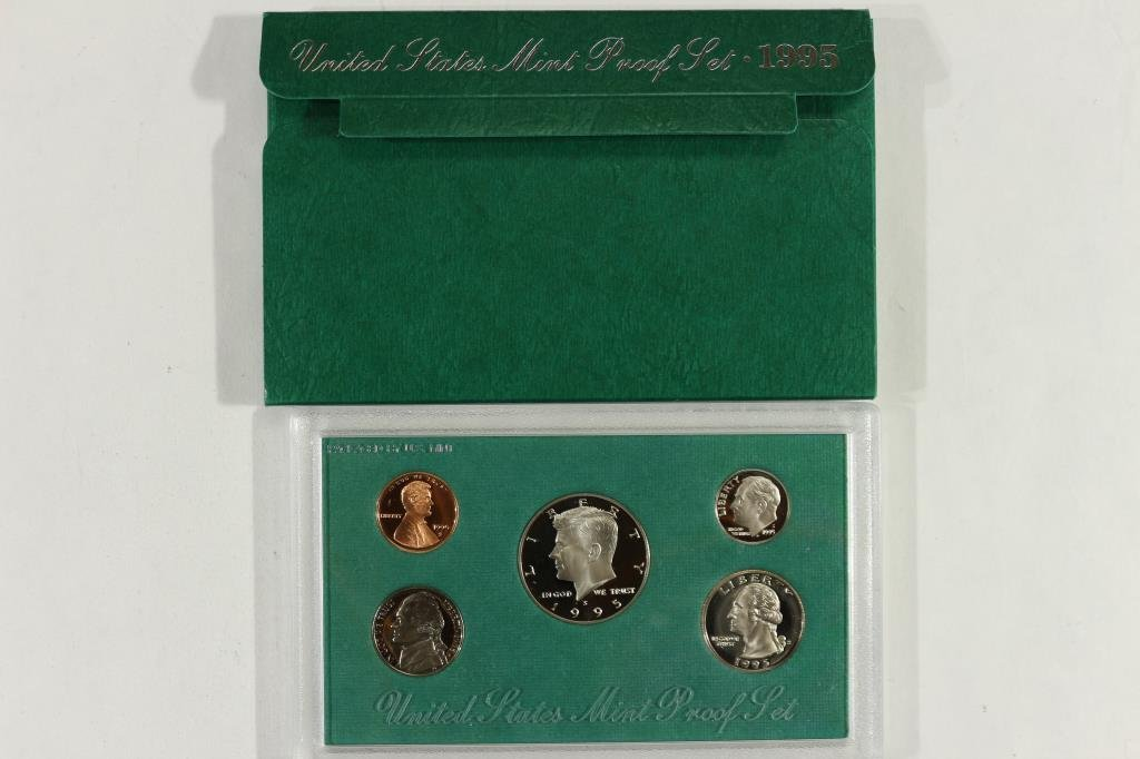 1995 US PROOF SET (WITH BOX)