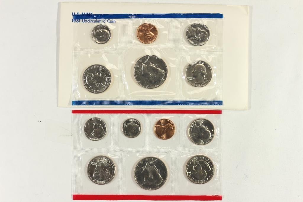 1981 US MINT SET (UNC) P/D/S (WITH ENVELOPE)