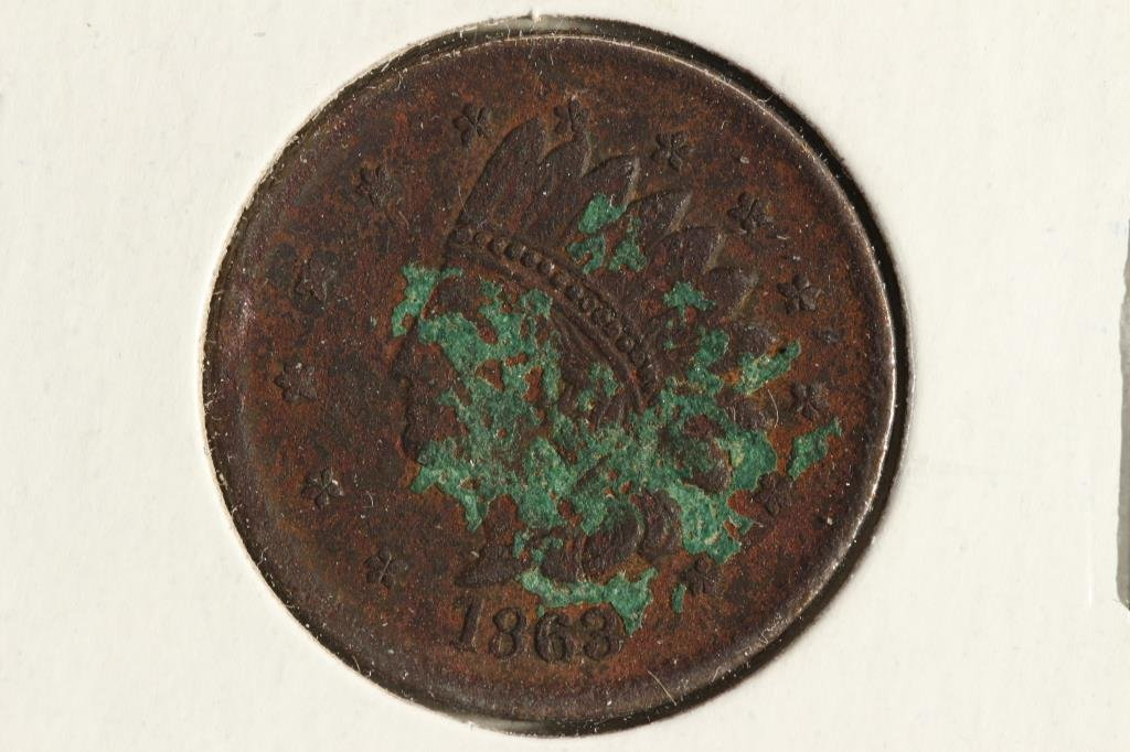1863 CIVIL WAR TOKEN WITH VIRDIGRIS NOT ONE CENT