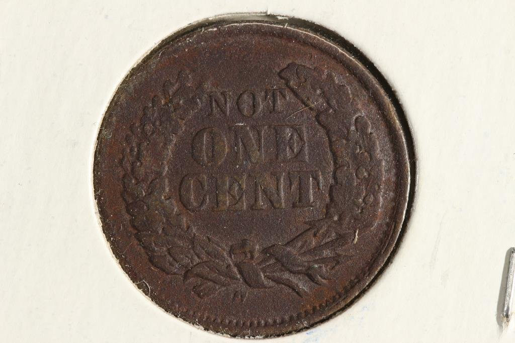 1863 CIVIL WAR TOKEN WITH VIRDIGRIS NOT ONE CENT - 2