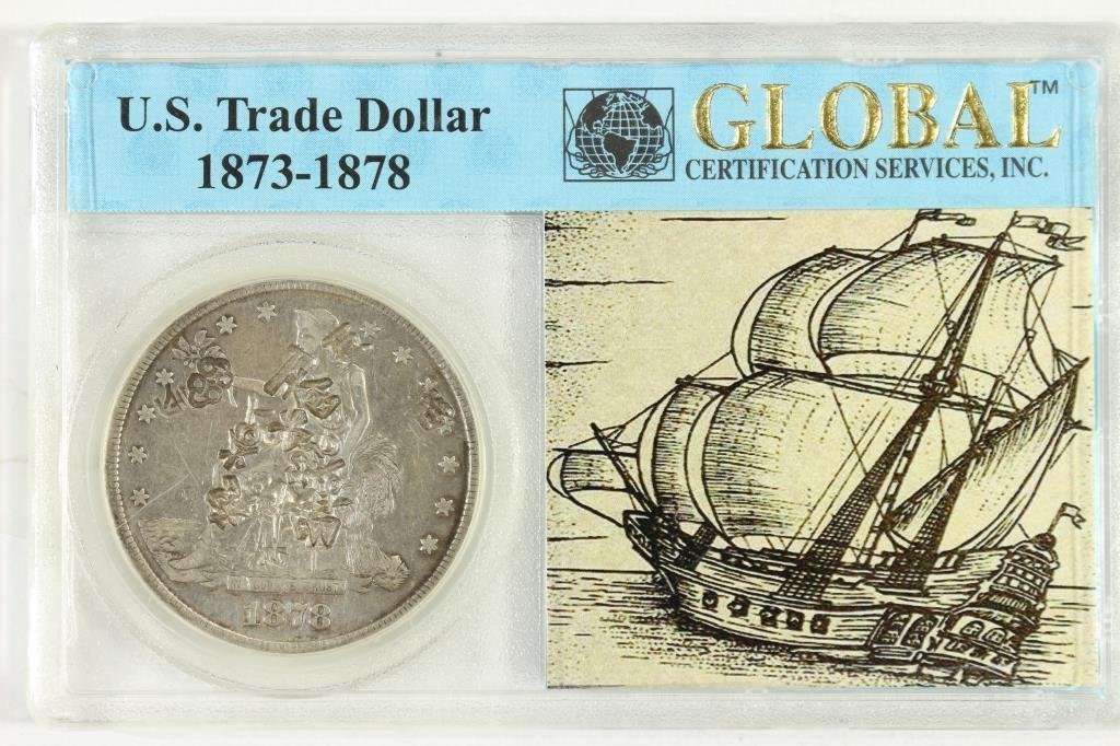 1878-S US TRADE DOLLAR WITH CHOP MARKS