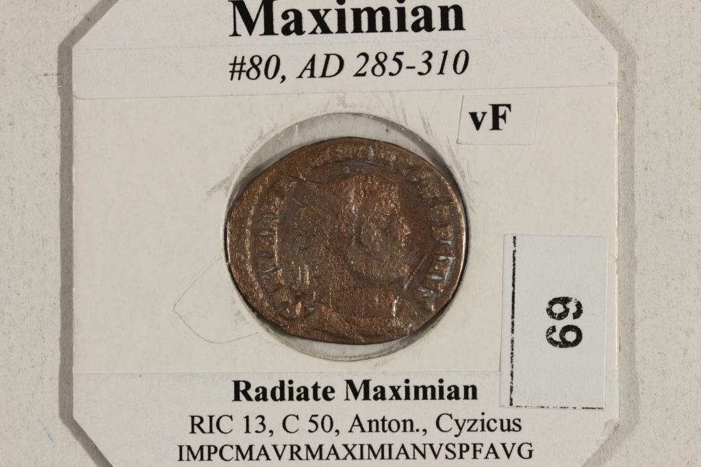 285-310 A.D. MAXIMIAN ANCIENT COIN VERY FINE - 3